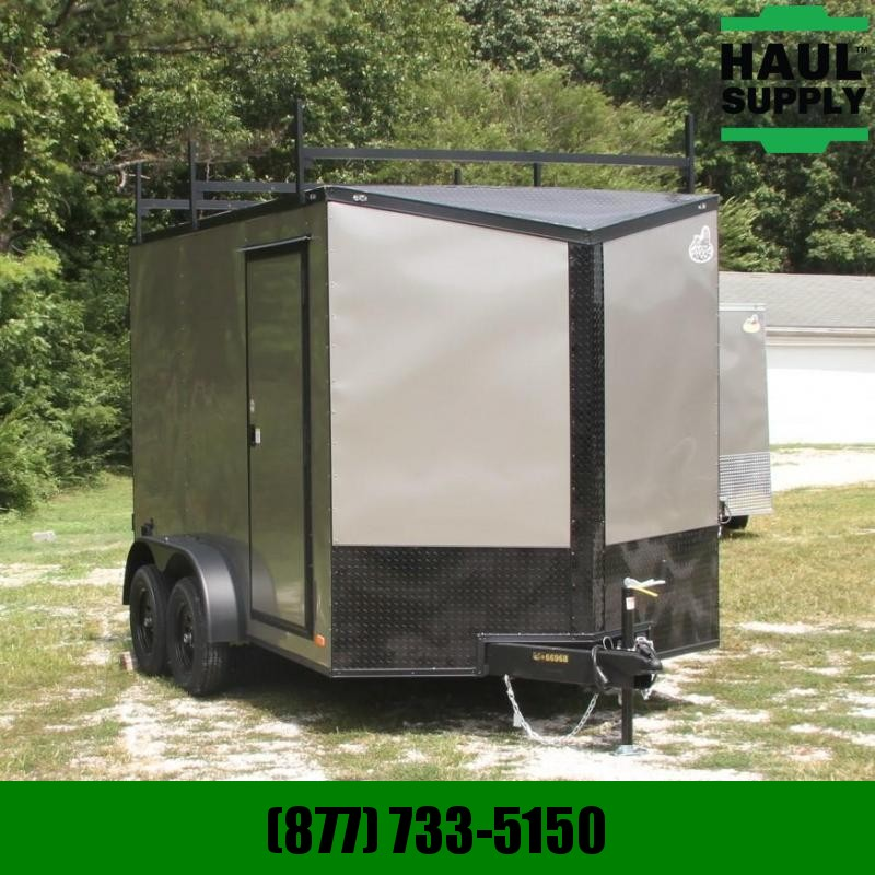 Covered Wagon Trailers 7X12 7K XXT V-NOSE SLANTED DRD 6-HD D-RIN