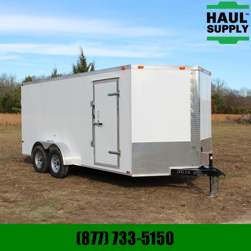 Cynergy Cargo 7X16 7K V-NOSE CARGO TRAILER REAR RAMP RO