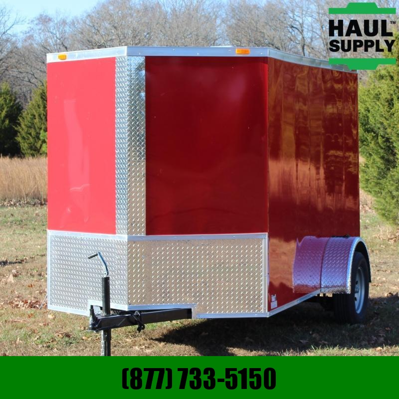 Traveler Cargo 6X10 V-NOSE ENCLOSED CARGO TRAILER REAR R
