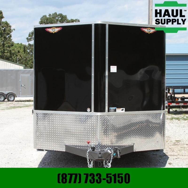 H and H Trailer 7X16 7K V-nose Cargo Trailer Rear Ramp Po