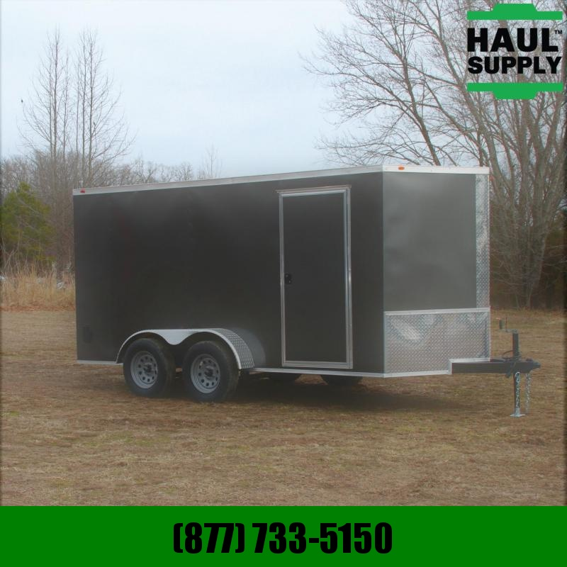 Traveler Cargo 7X14 V-NOSE CARGO TRAILER RAMP LEDS RADIA