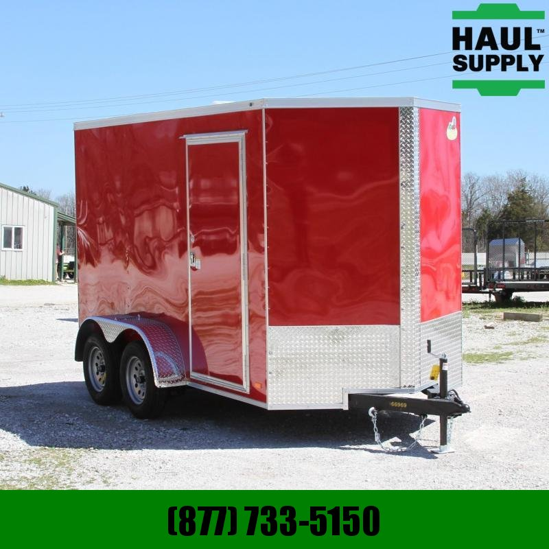 Covered Wagon Trailers 6X12 7K XXT V-NOSE CARGO TRAILER REAR RAM