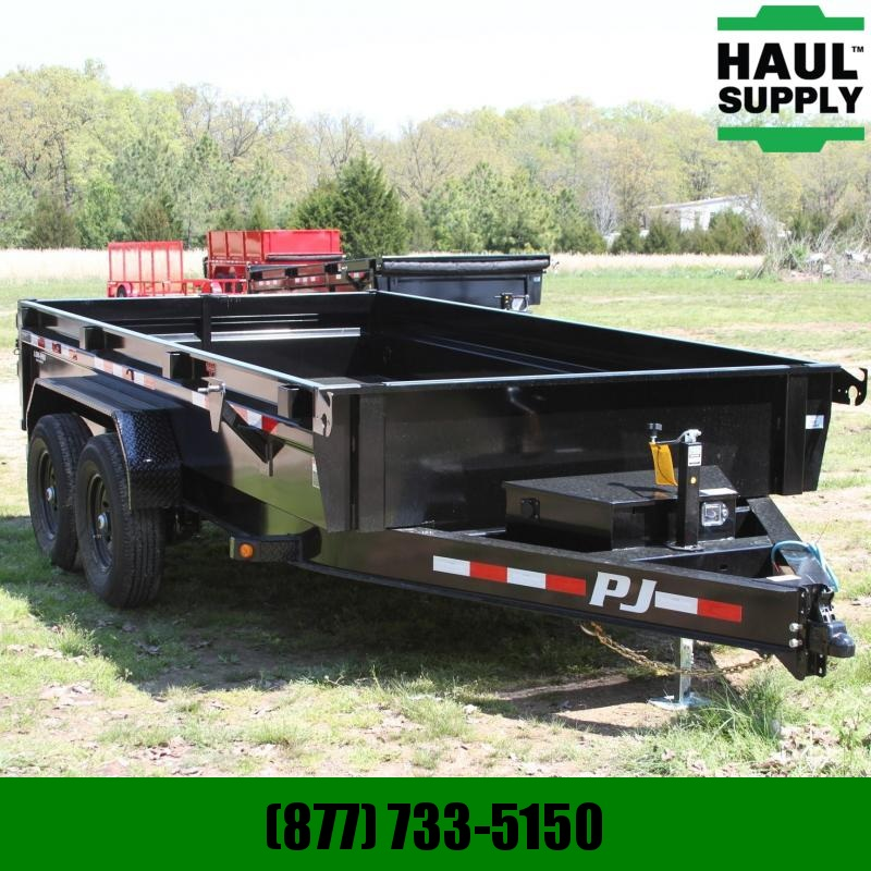 PJ Trailers 83X14 14K Low-Pro Dump 3in Channel on 16i