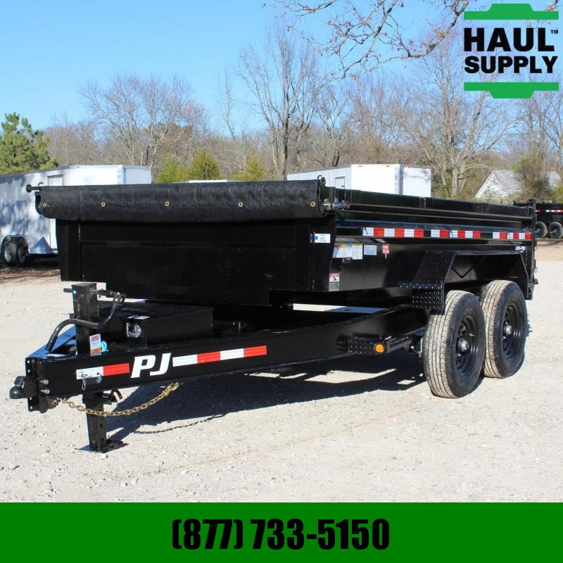 PJ Trailers 83X12 14K LOW PRO DUMP RAMPS / TARP