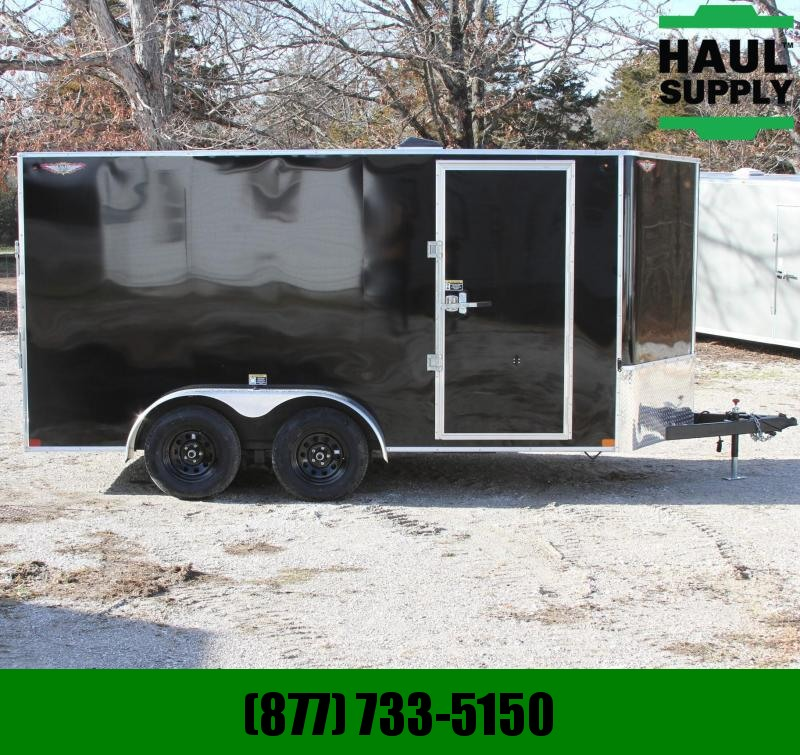 H and H Trailer 7X14 7K XT V-NOSE CARGO TRAILER D-RINGS S