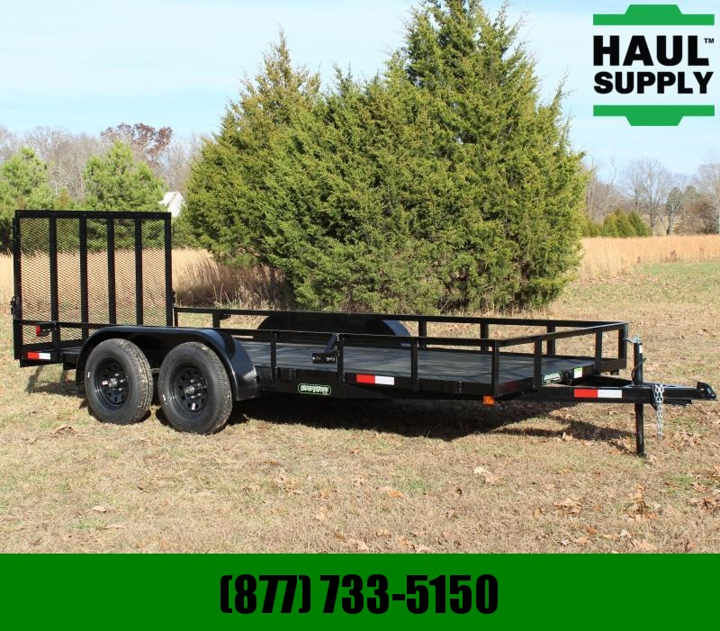 Wicked Trailer Manufacturing 76X16 UTILITY TRAILER 2-3500LB SPRING AXL