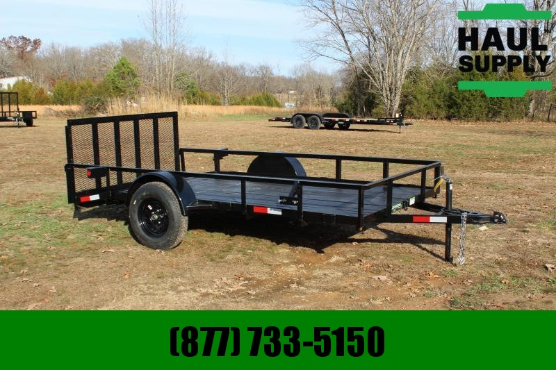 Wicked Trailer Manufacturing 76X12 UTILITY TRAILER TUBE TOP W/4FT GATE