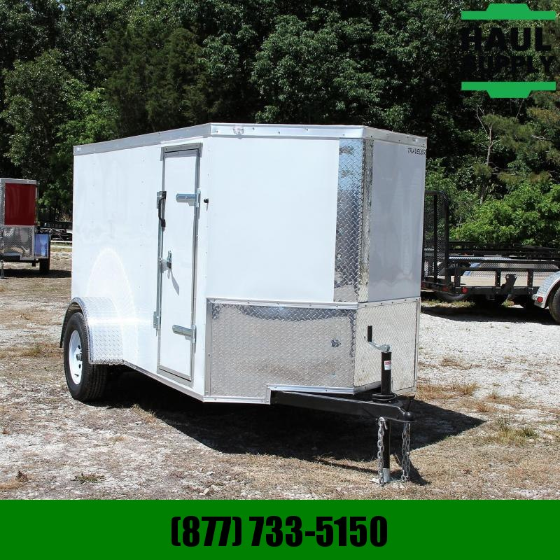 Traveler Cargo 5X10 V-NOSE CARGO TRAILER REAR RAMP SIDE