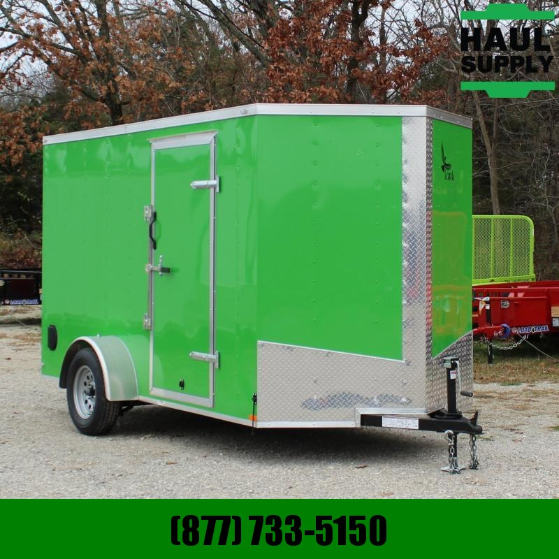 Lark 6X12 V-NOSE CARGO TRAILER XXT REAR RAMP