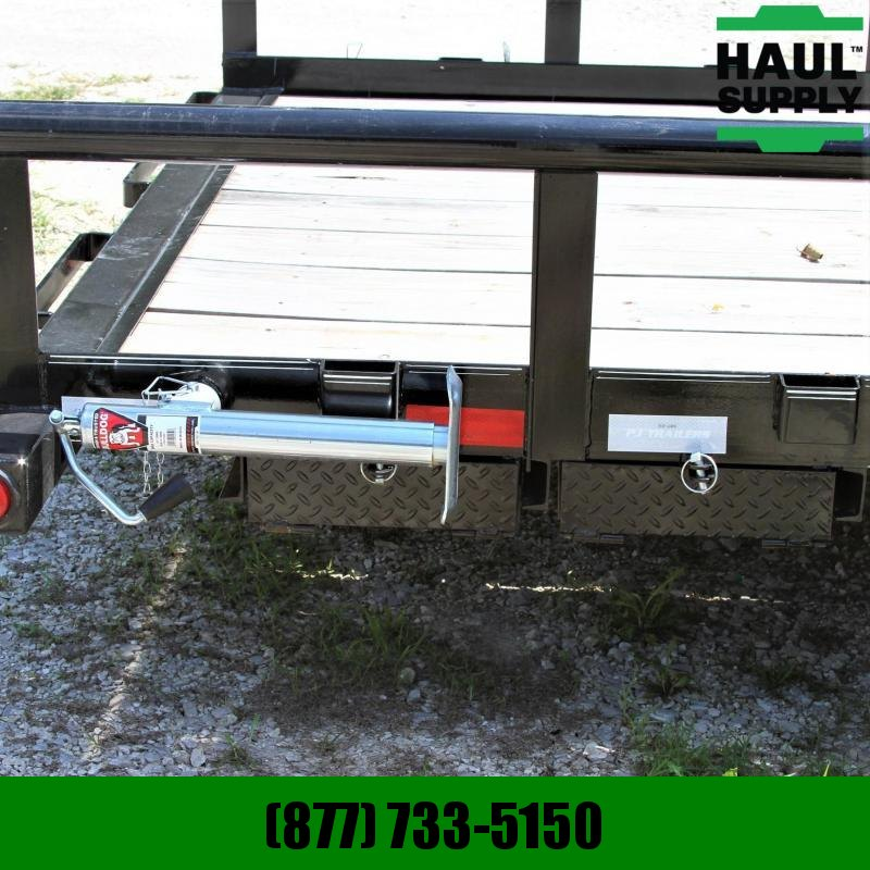 PJ Trailers 83X20 14K PIPETOP DEXTERS LEDS PWDR COAT+