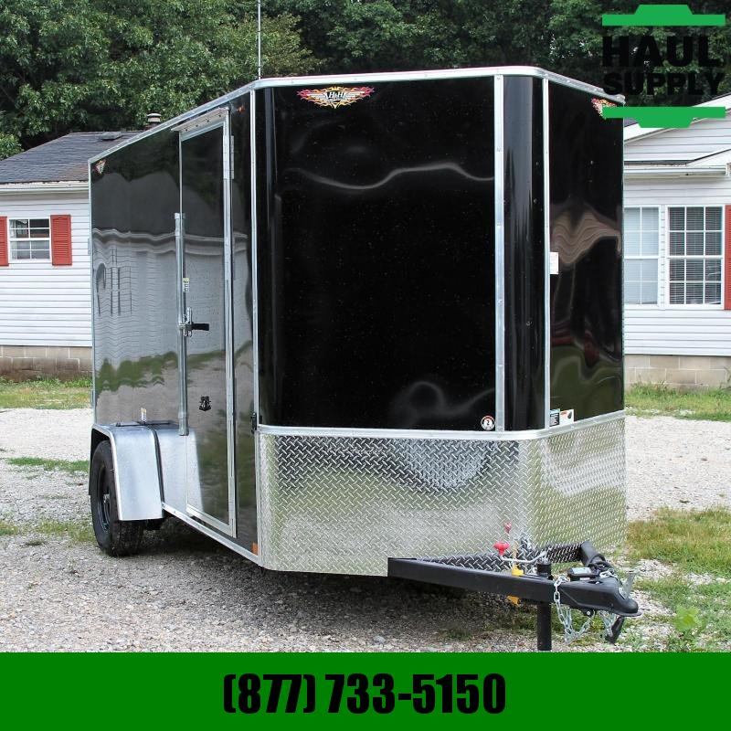 H and H Trailer 6X12 XT V-NOSE CARGO TRAILER ROOF VENT RE
