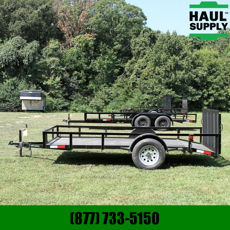 Wicked Trailer Manufacturing 76X12 SINGLE AXLE UTILITY 10FT +2FT DOVE
