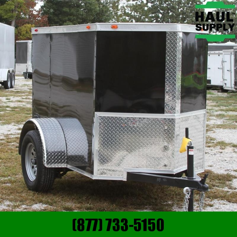 Traveler Cargo 4X6 V-nose Cargo Trailer Single Rear Door