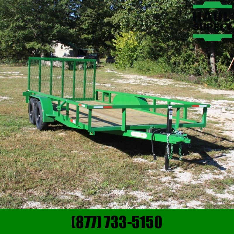 Wicked Trailer Manufacturing 82X18 7K UTILITY TRAILER TUBE TOP REAR SL