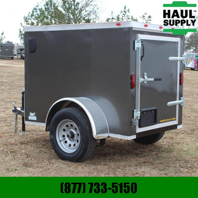 Traveler Cargo 4X6 V-NOSE CARGO TRAILER SWING DOOR W/BAR