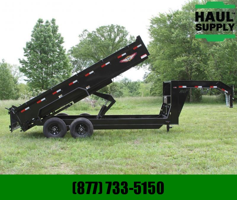 H and H Trailer 83X16 14K Gooseneck Dump 8in Steel Channe
