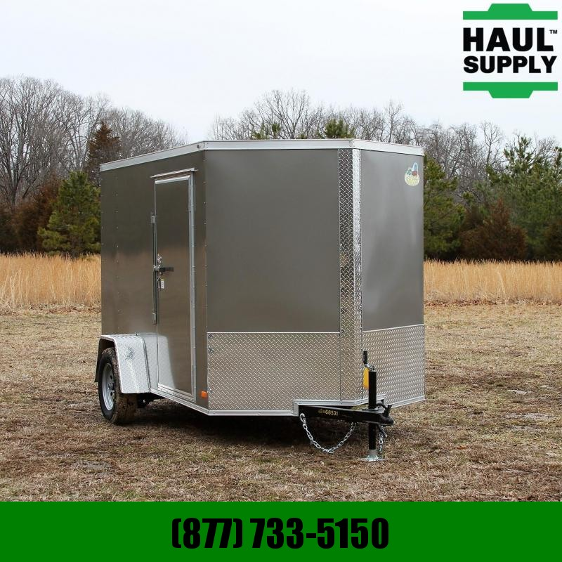 Covered Wagon Trailers 6X10 SA V-NOSE CARGO TRAILER REAR RAMP RO