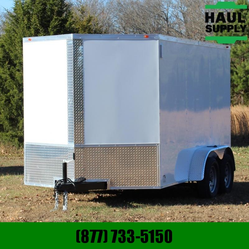 Traveler Cargo 7X12 7K V-NOSE ENCLOSED CARGO TRAILER REA