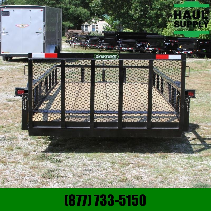 Wicked Trailer Manufacturing 76X14 UTILITY TRAILER 4FT GATE LEDS