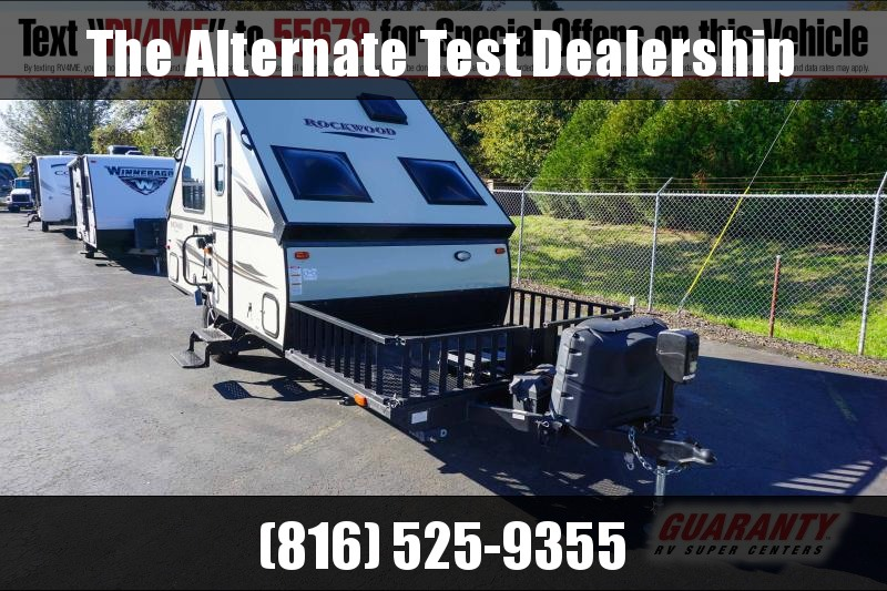 2017 Forest River Rockwood A122TH - Guaranty RV Trailer and Van Center - PT4010