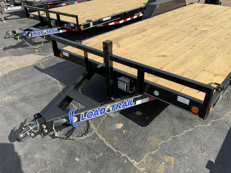 New 2021 Load Trail 7ft x 18ft 10k Tandem Axle  Bumper Pull Car/Equipment Hauler   (Black)