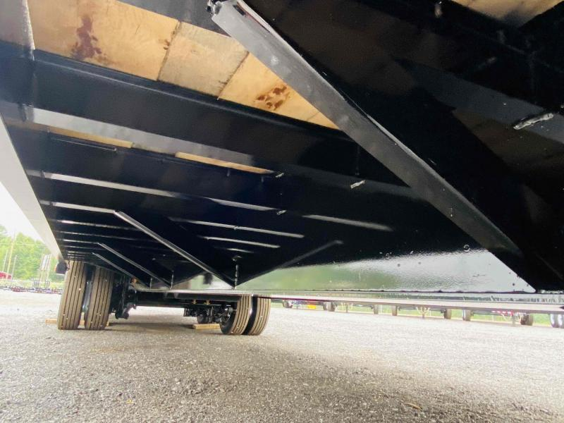 New 2021 Behnke 8.5ft x 32ft 40k Tandem Axle Extreme-Duty  Bumper Pull Flatbed   (Black)