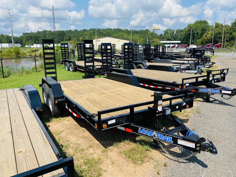 New 2022 Load Trail 7ft x 16ft 14k Tandem Axle  Bumper Pull Car/Equipment Hauler   (Black)