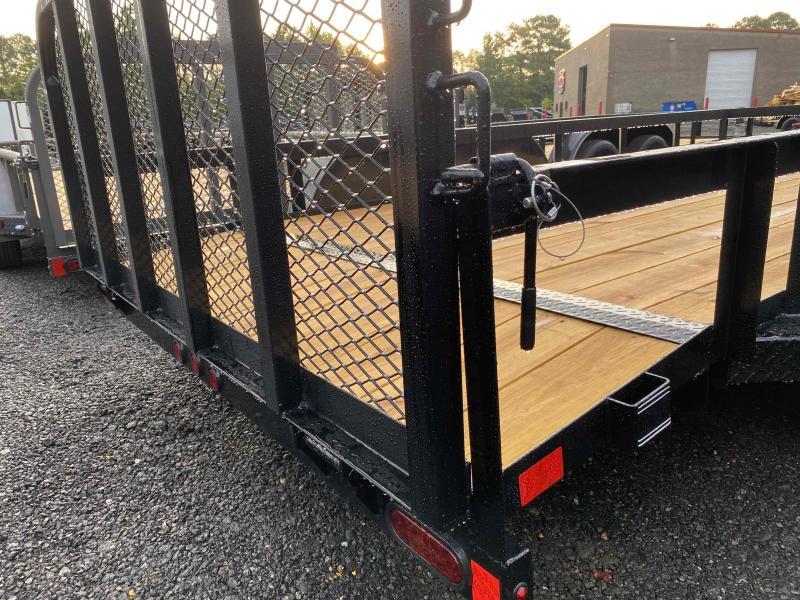 New 2021 East Texas 7ft x 16ft 7k Tandem Axle  Bumper Pull Utility w/1ft walls (Charcoal)