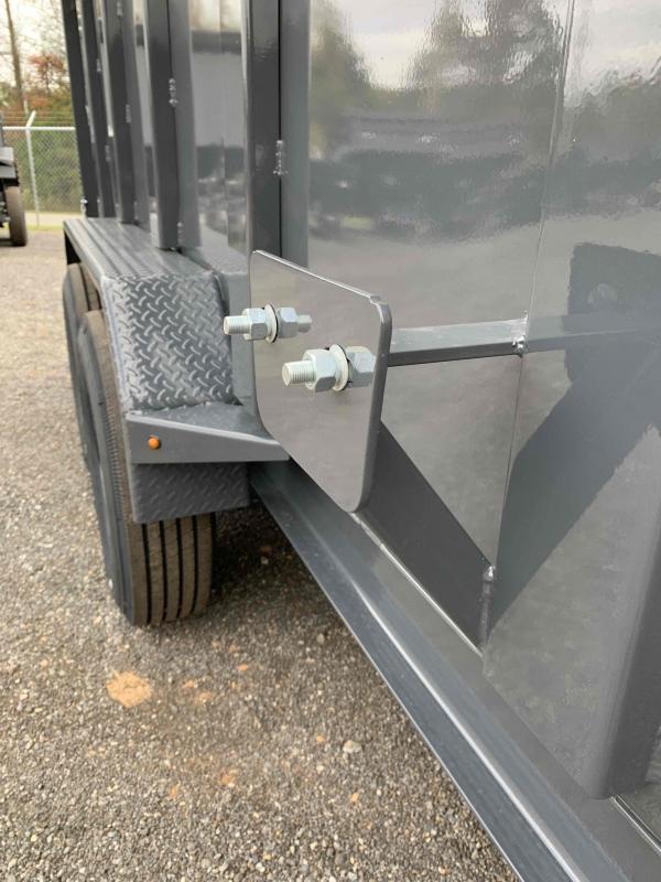 New 2022 Lamar 7ft x 14ft 14k Tandem Axle HD Low-Pro  Bumper Pull Dump w/4ft walls (Lamar Gray)