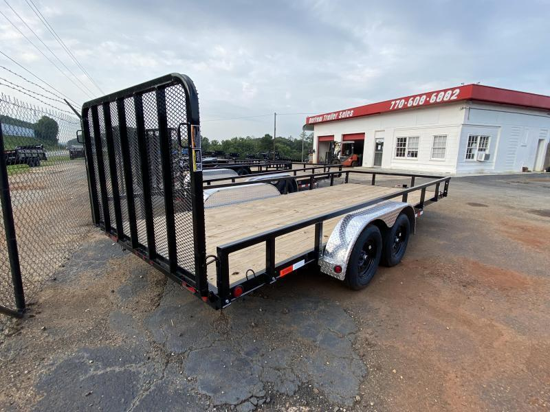 New 2021 Load Trail 7ft x 18ft 7k Tandem Axle  Bumper Pull Utility   (Black)