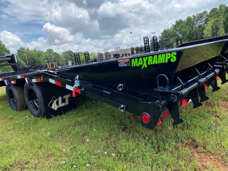 New 2021 Load Trail 8.5ft x 28ft 22k Tandem Axle Low-Pro Gooseneck Flatbed   (Black)
