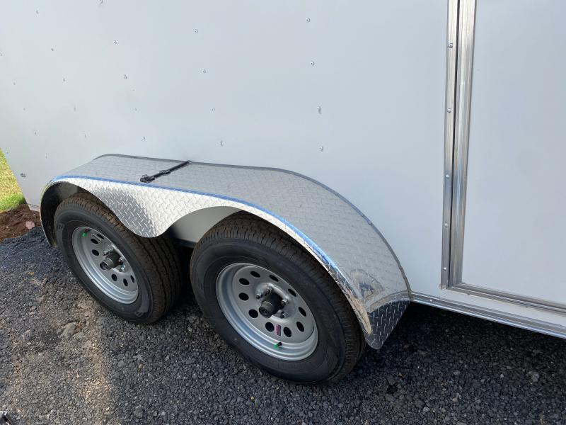 New 2022 Rock Solid 6ft x 12ft 7k Tandem Axle  Bumper Pull Enclosed w/6ft walls (White)