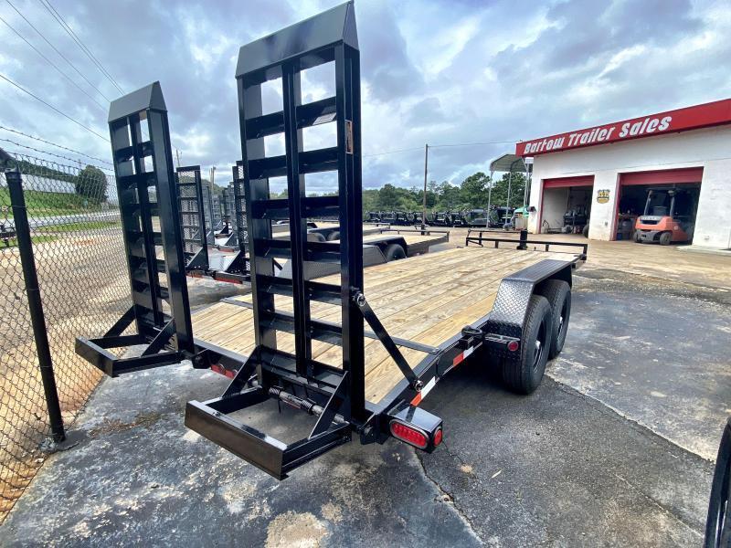 New 2021 Load Trail 7ft x 20ft 14k Tandem Axle  Bumper Pull Car/Equipment Hauler   (Black)