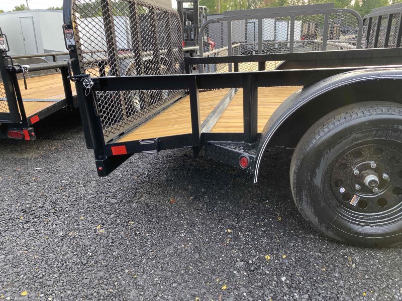 New 2021 East Texas 7ft x 16ft 7k Tandem Axle  Bumper Pull Utility w/1ft walls (Black)