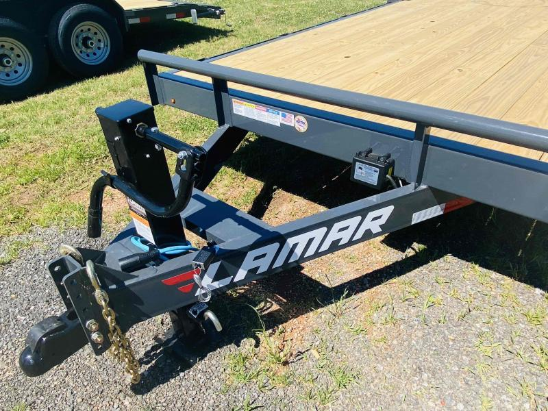 New 2021 Lamar 7ft x 22ft 14k Tandem Axle  Bumper Pull Car/Equipment Hauler   (Lamar Gray)