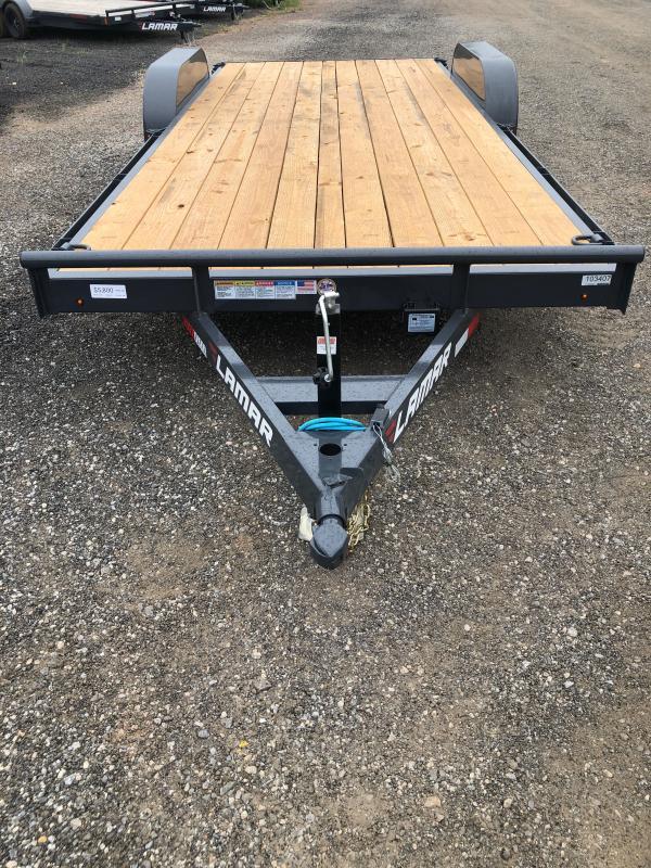 New 2021 Lamar 7ft x 20ft 10k Tandem Axle  Bumper Pull Car/Equipment Hauler   (Lamar Gray)