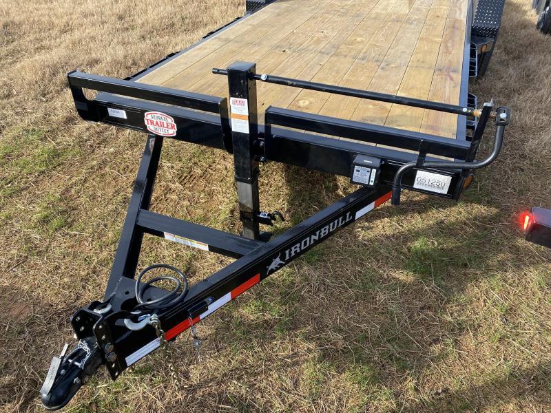 New 2021 Iron Bull 7ft x 20ft 14k Tandem Axle  Bumper Pull Car/Equipment Hauler   (Black)