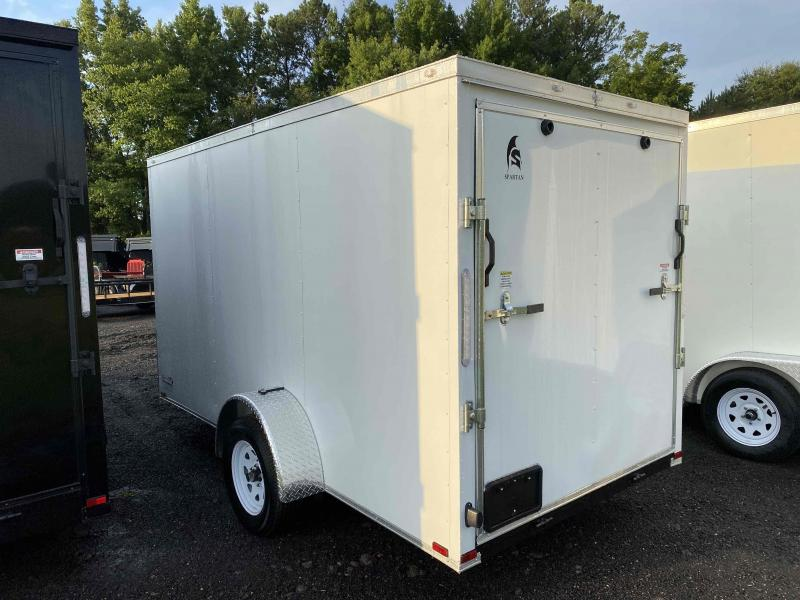 New 2022 Spartan 6ft x 12ft 3.5k Single Axle  Bumper Pull Enclosed w/6ft walls (White)