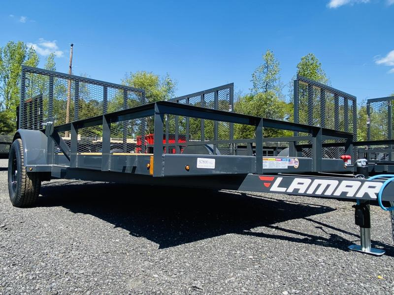 New 2021 Lamar 7ft x 12ft 3.5k Single Axle  Bumper Pull Utility   (Lamar Gray)