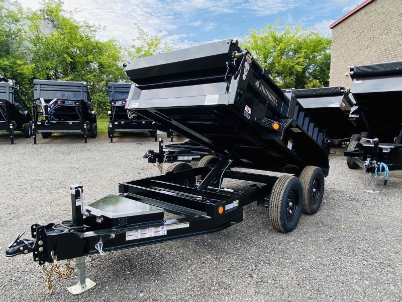 New 2022 Iron Bull 5ft x 10ft 7k Tandem Axle  Bumper Pull Dump w/1.5ft walls (Black)