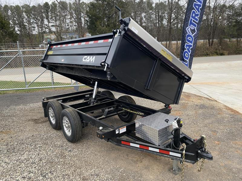 Used 2021 Cam Superline 6ft x 10ft 10k Tandem Axle  Bumper Pull Dump w/1.5ft walls (Black)