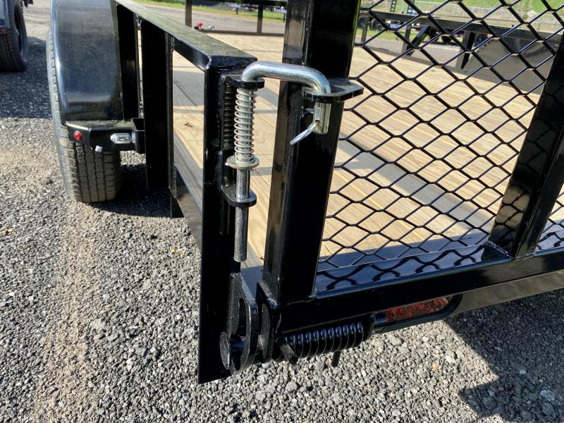 New 2021 Lamar 7ft x 12ft 3.5k Single Axle  Bumper Pull Utility   (Black)