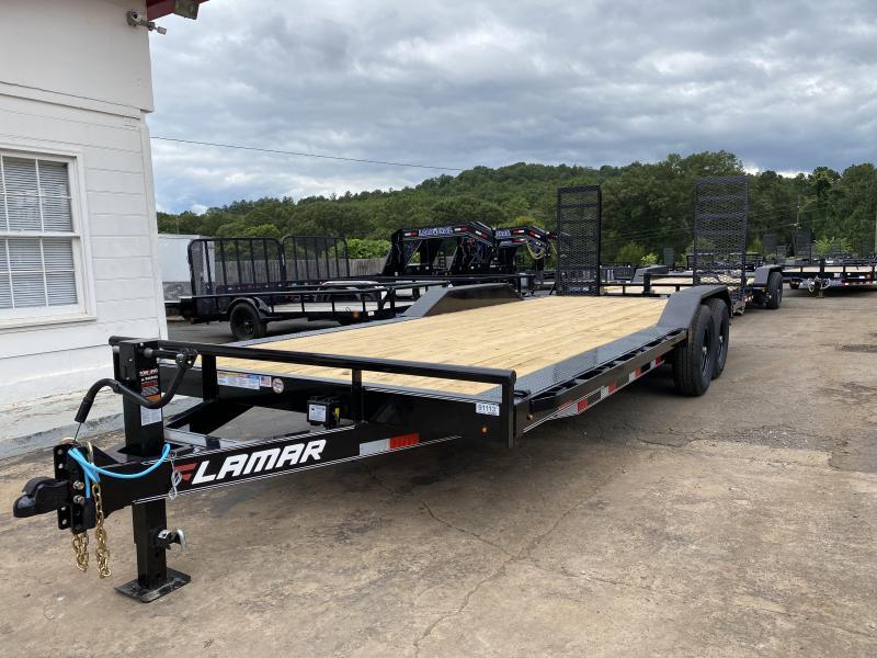 New 2020 Lamar 8.5ft x 20ft 14k Tandem Axle  Bumper Pull Car/Equipment Hauler   (Gray)