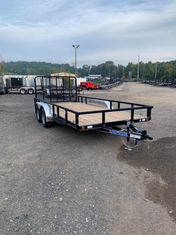 New 2022 Load Trail 7ft x 16ft 7k Tandem Axle  Bumper Pull Utility w/1ft walls (Black)