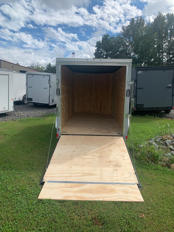 New 2022 Rock Solid 6ft x 12ft 3.5k Single Axle  Bumper Pull Enclosed w/6ft walls (Dove Gray)
