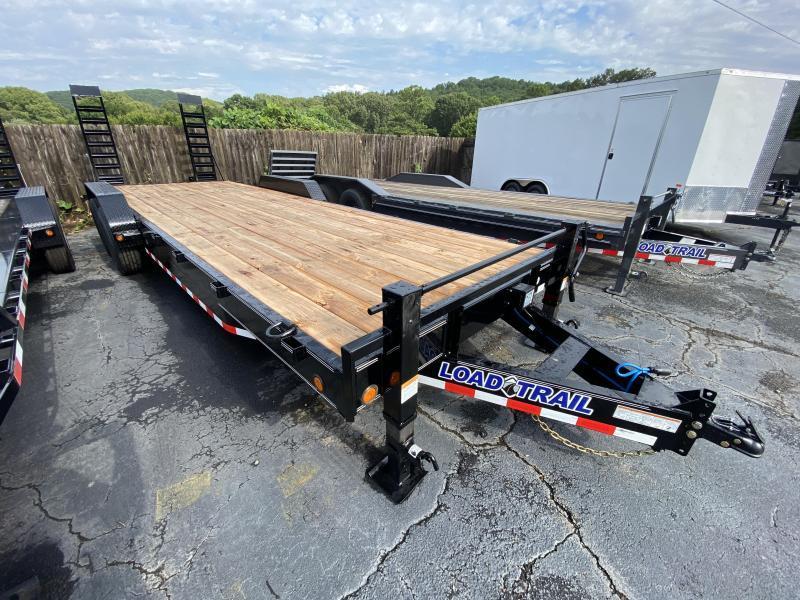 New 2021 Load Trail 7ft x 24ft 14k Tandem Axle  Bumper Pull Car/Equipment Hauler   (Black)