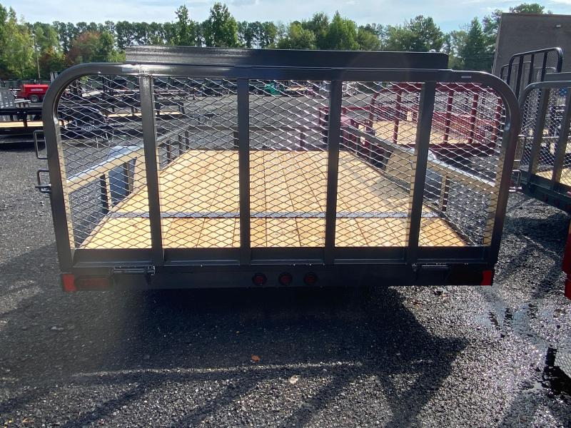 New 2021 East Texas 7ft x 12ft 3.5k Single Axle  Bumper Pull Utility w/1ft walls (Charcoal)