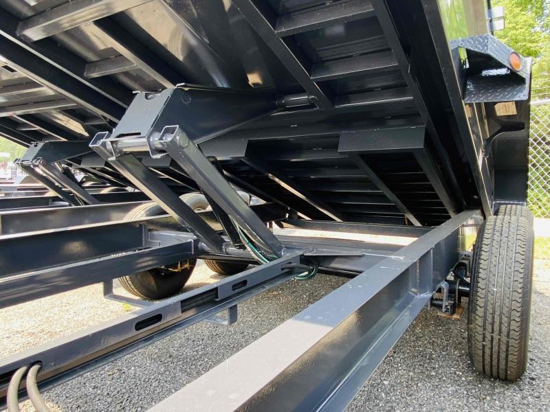 New 2021 Iron Bull 7ft x 14ft 14k Tandem Axle HD Bumper Pull Dump w/2ft walls (Ranch Gray)