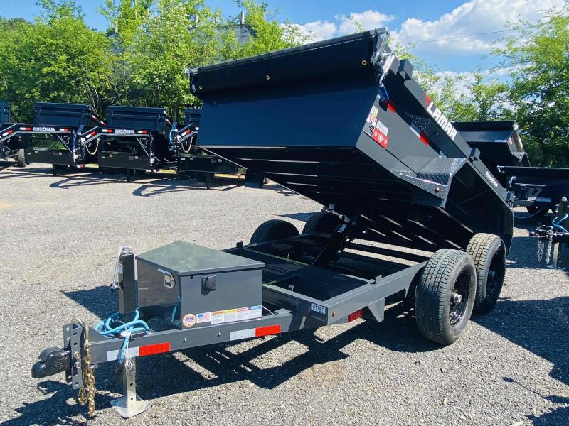 New 2021 Lamar 5ft x 10ft 10k Tandem Axle Mini Bumper Pull Dump w/1.5ft walls (Lamar Gray)