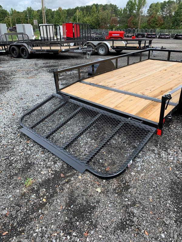 New 2021 East Texas 7ft x 12ft 3.5k Single Axle  Bumper Pull Utility w/1ft walls (Black)